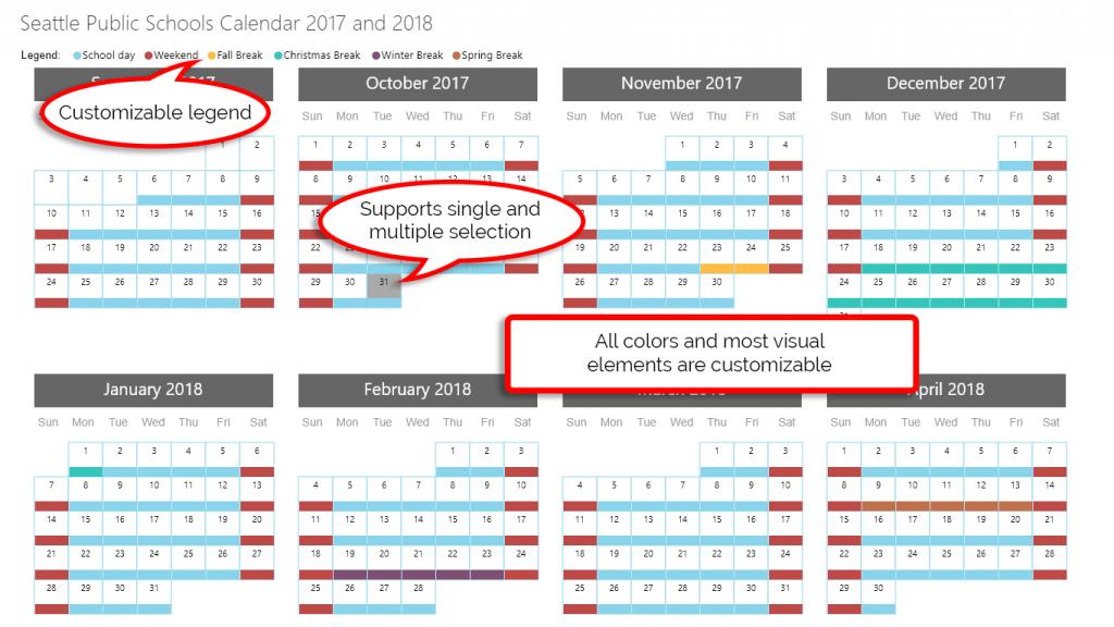 Power Bi Custom Visuals Custom Calendar By Akvelon - Resume