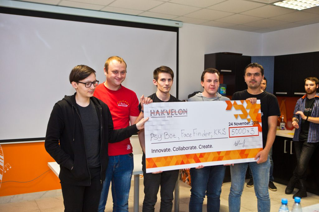 "The winners of the ""Best of the Rest"" prize at Akvelon's Hakvelon competition"