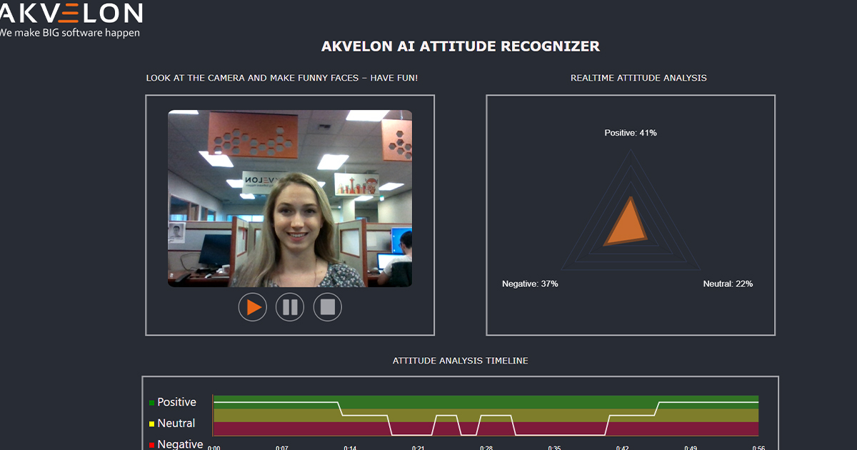 Akvelon's AI Attitude Recognizer